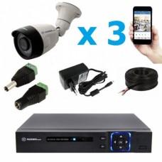 Комплект видеонаблюдения уличный MT-5.0AHD-LC3 (3,6мм)
