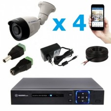 Комплект видеонаблюдения уличный MT-5.0AHD-LC4 (3,6мм)