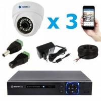 Комплект видеонаблюдения внутренний MT-5.0AHD-LD3 (3,6мм)