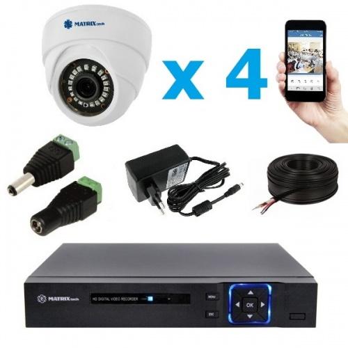 Комплект видеонаблюдения внутренний MT-5.0AHD-LD4 (3,6мм)